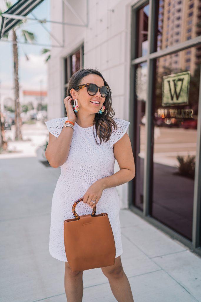 Lucite handle handbag trend | Adored by Alex