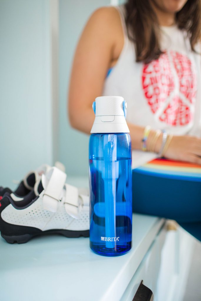 Staying hydrated sustainably with Britta filtering bottles