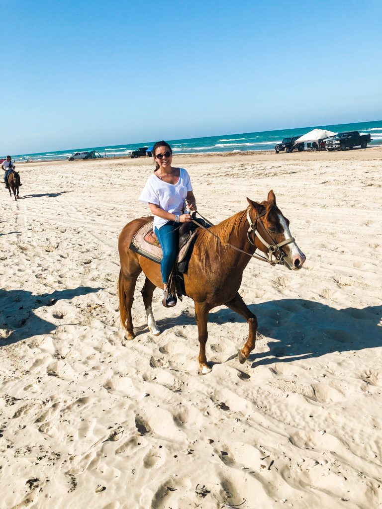 Horseback riding on the beach, South Padre Island