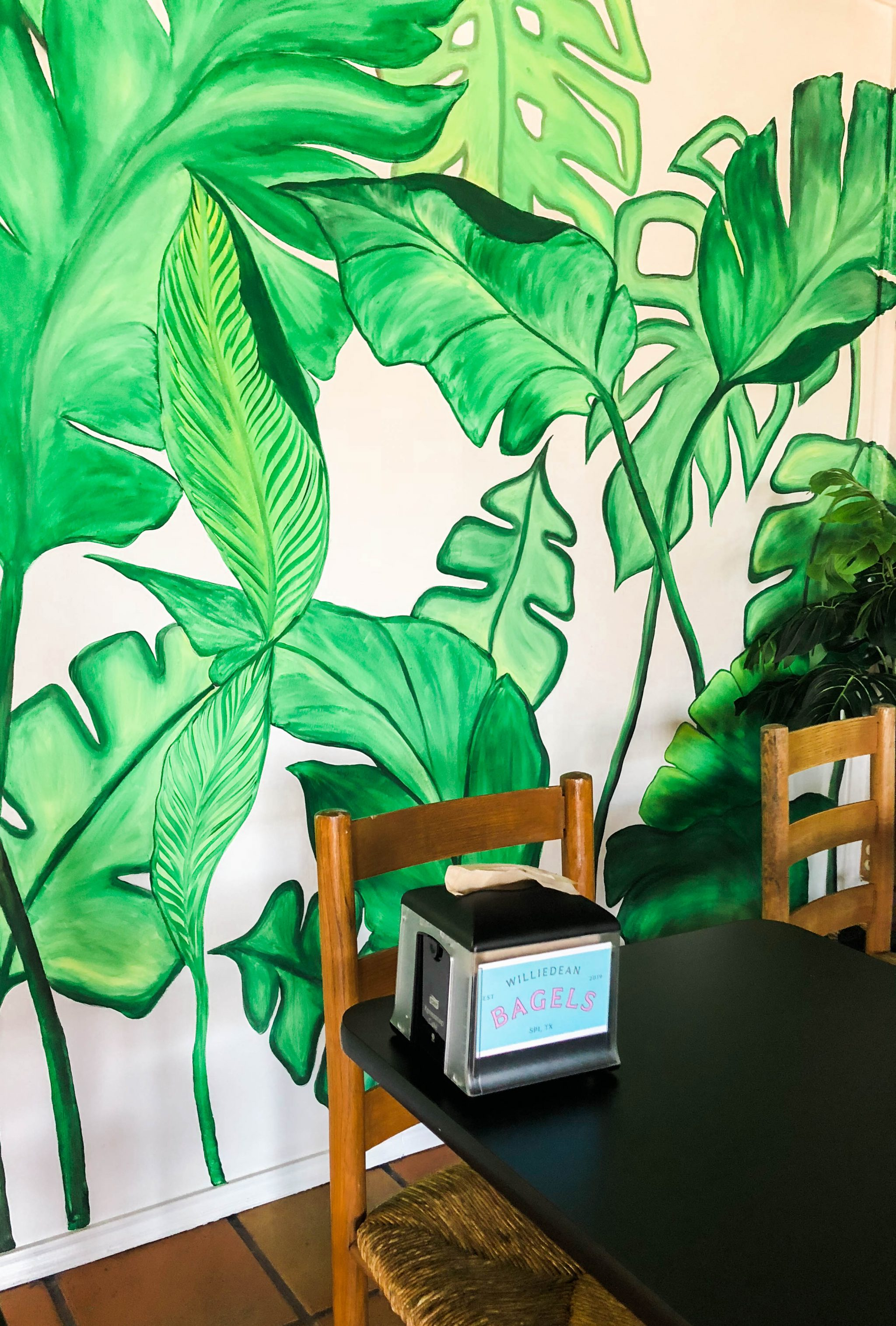 Palm Frond mural ideas