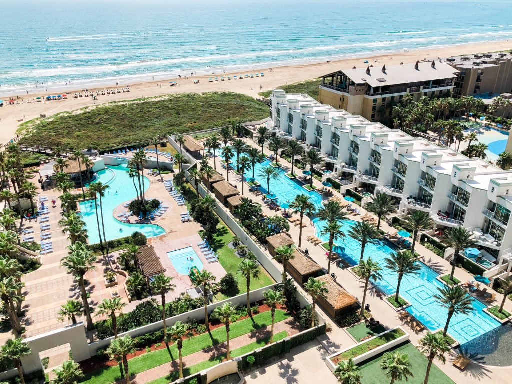 South Texas beachside condo properties and pools