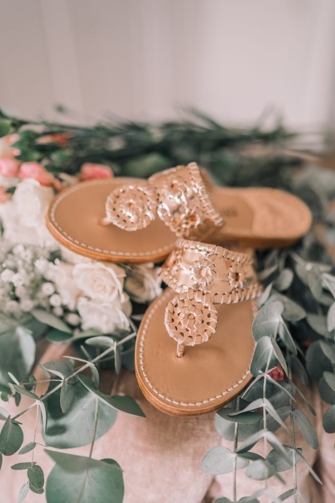 Rose Gold Handmade Palm Beach Sandals