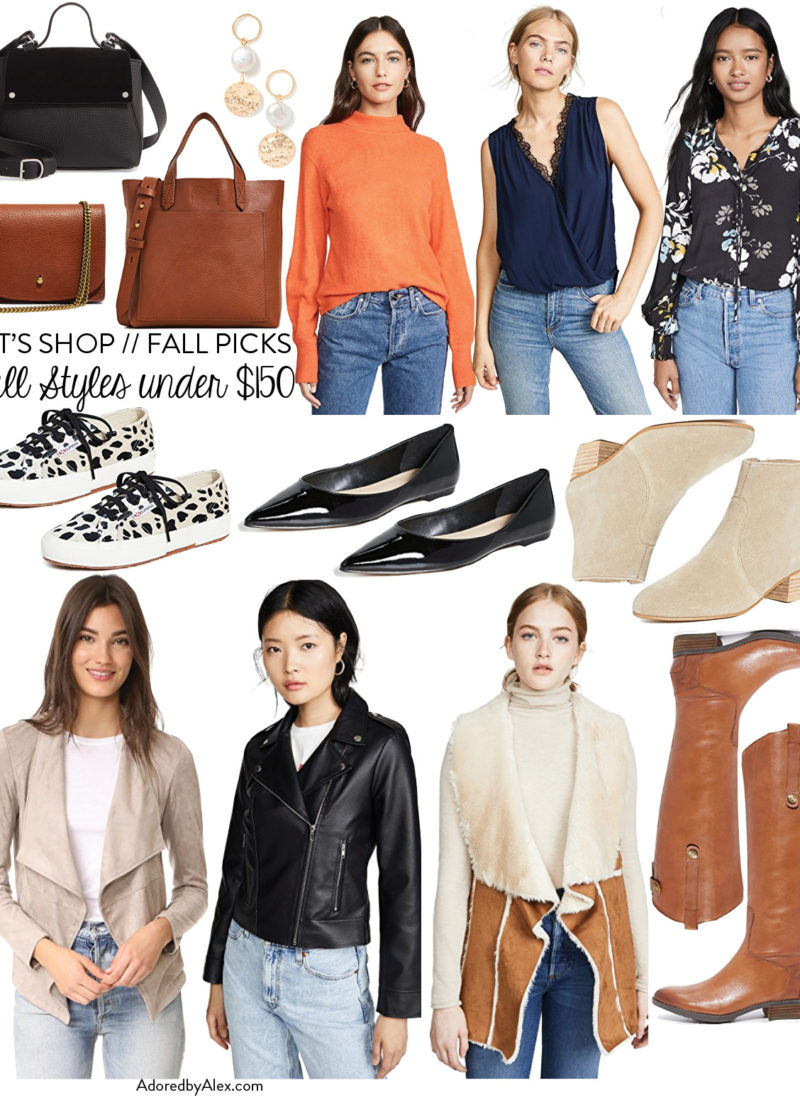 Let's Shop: Fall Style Picks Under $150