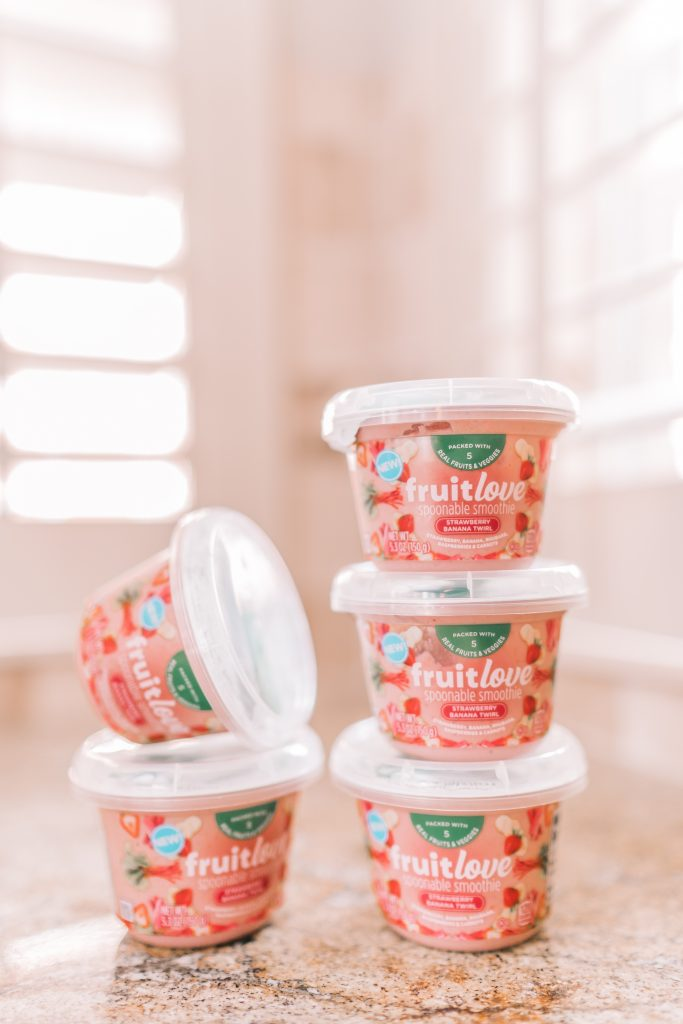 Kraft Fruitlove smoothie cups snack ideas