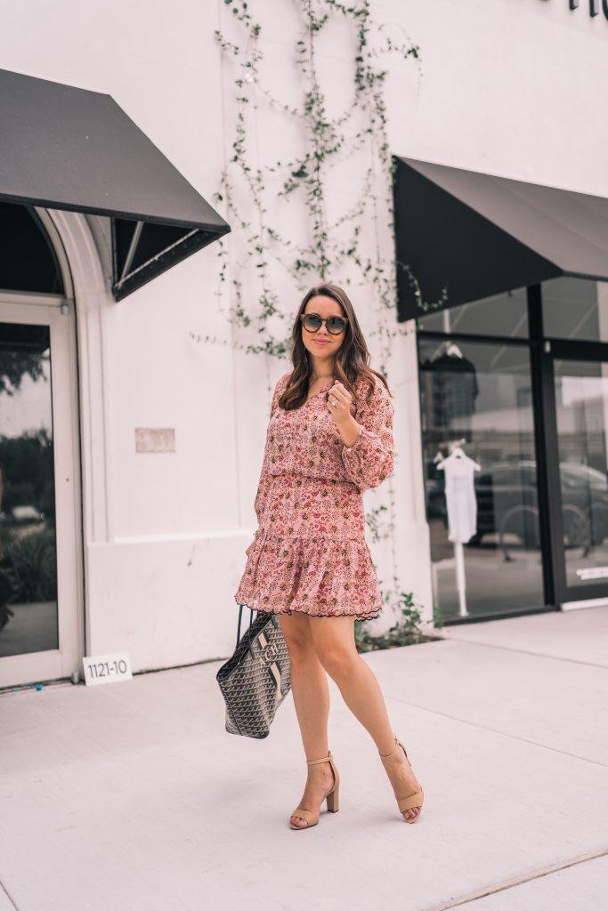 Floral dress for fall, shower dress ideas