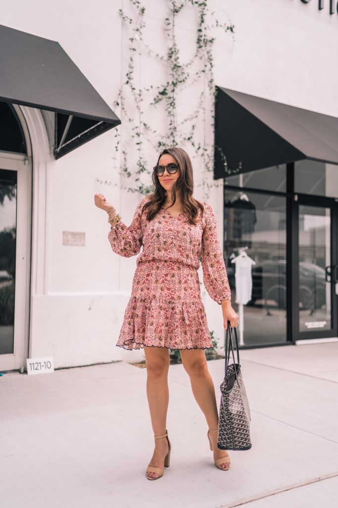 The perfect floral dress for fall