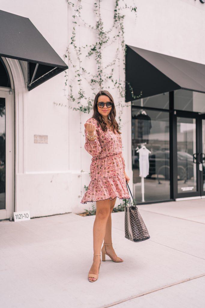 Floral boho dress for fall | Adored by Alex
