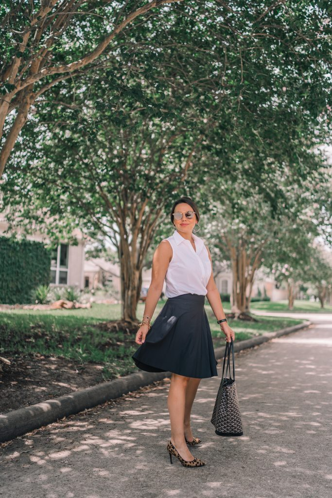 Cotidie circle skirt, classic silhouettes for work