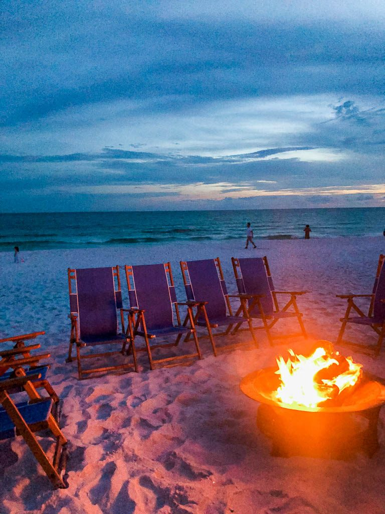 Smores on the beach, Hilton Sandestin golf and beach resort