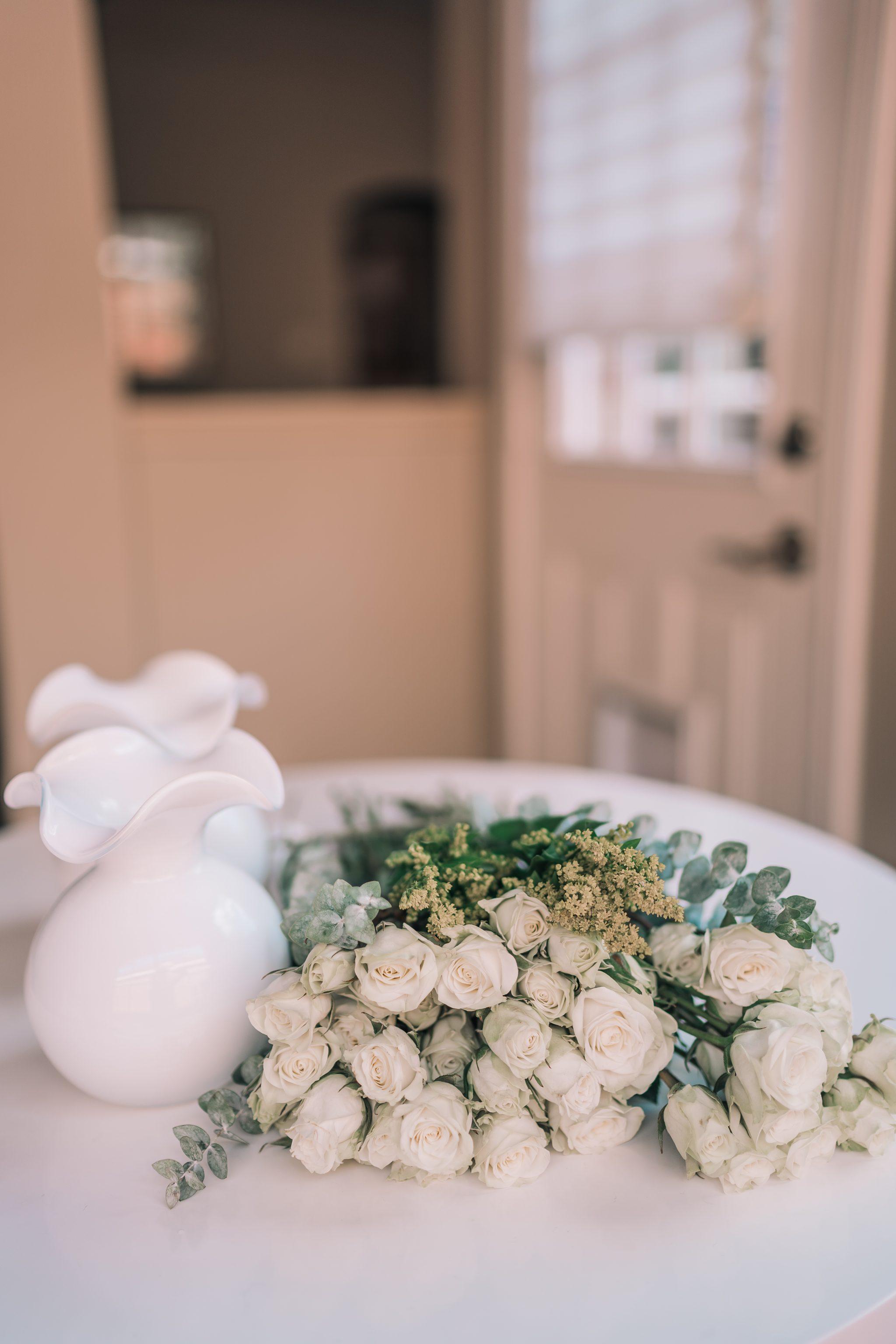 At-home DIY flower arrangements on a budget