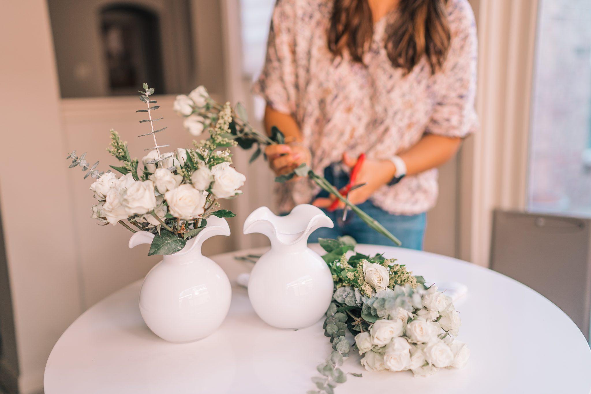 Simple DIY flower arrangements with Trader Joe's flowers