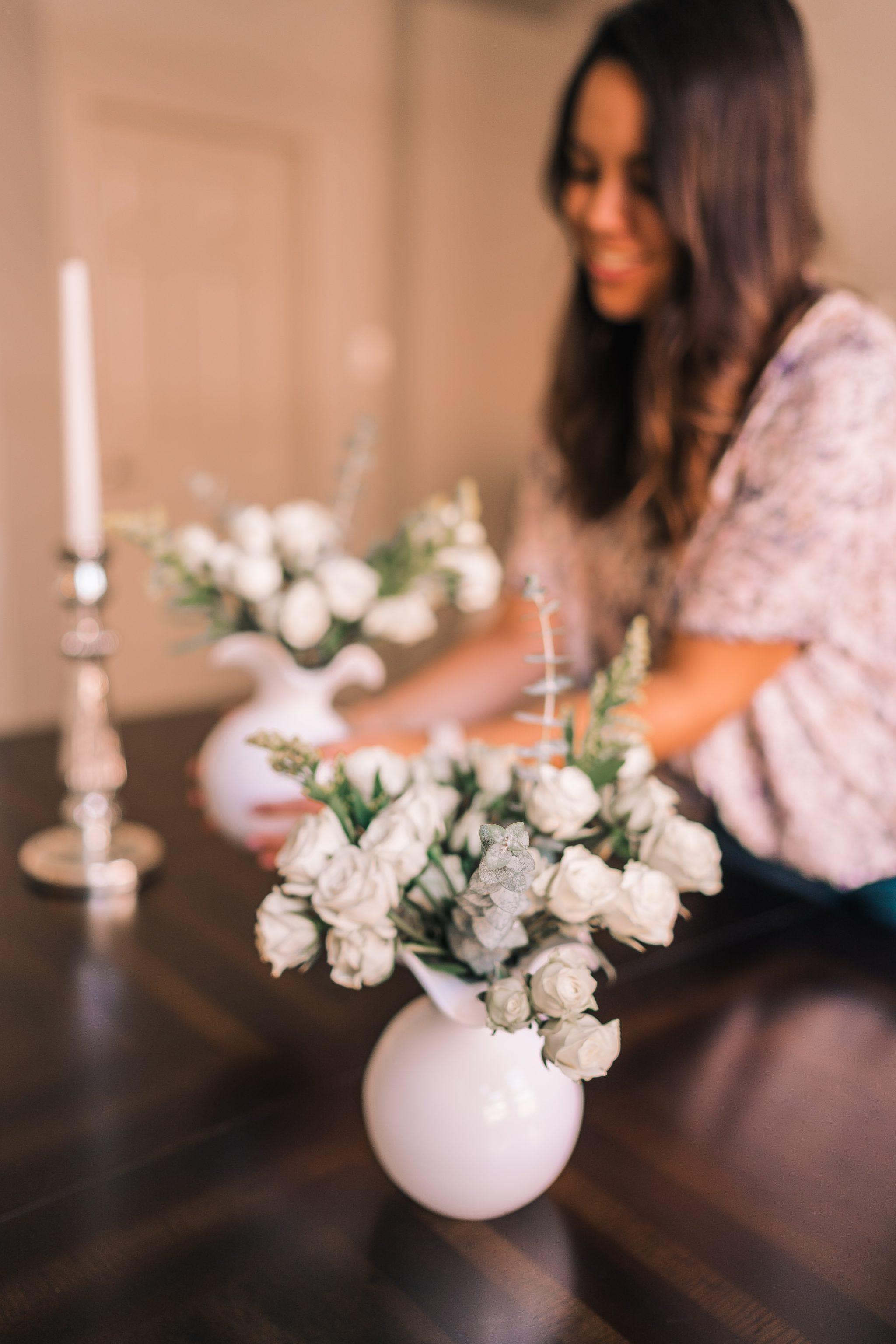 Budget-friendly at home flower arrangements