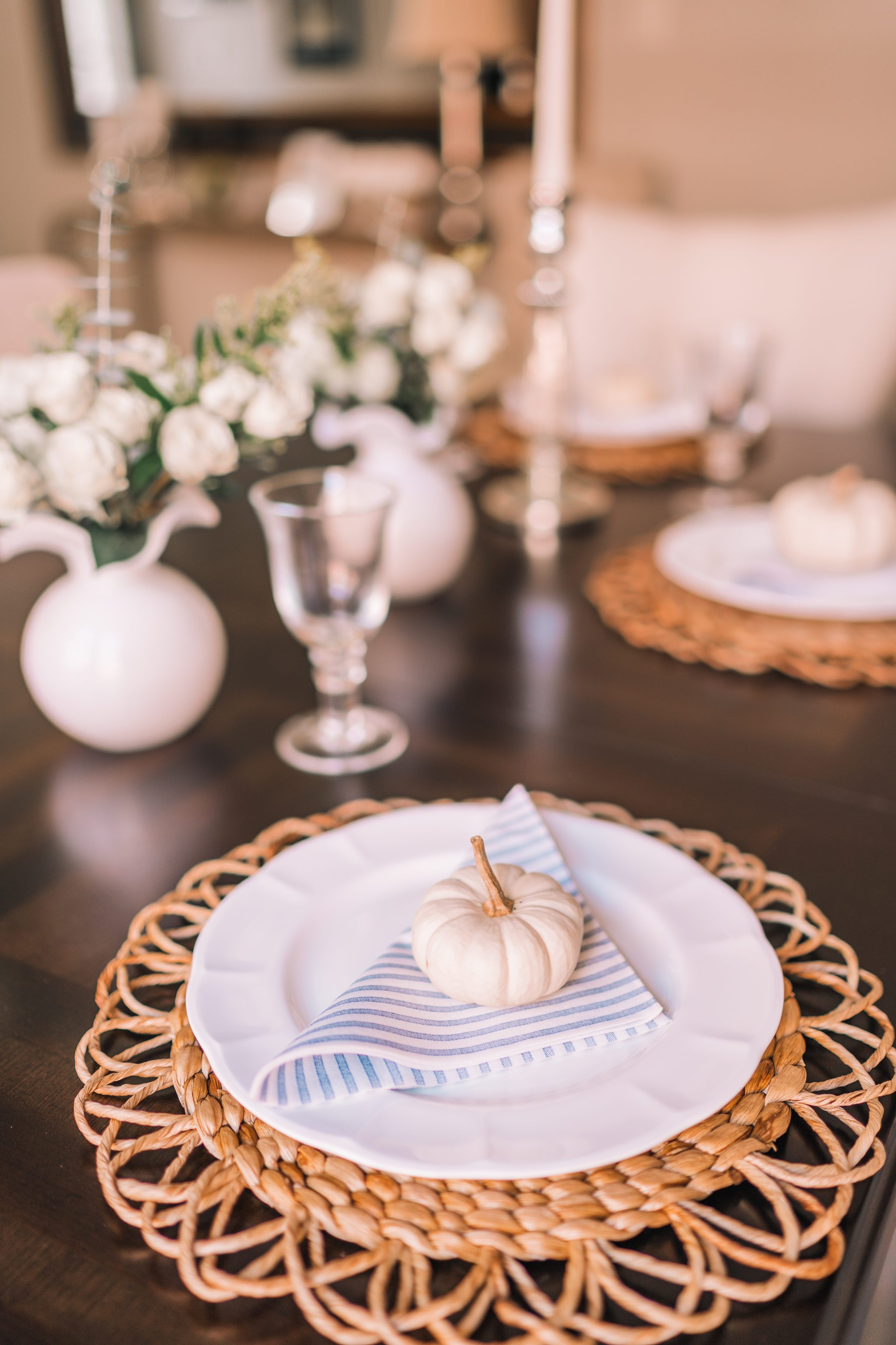 Simple and clean fall dining table ideas | Adored by Alex