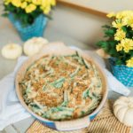 Homemade green bean casserole Friendsgiving side dishes
