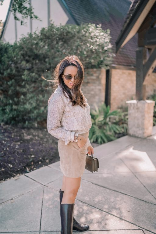 Styling the snakeskin print trend for fall