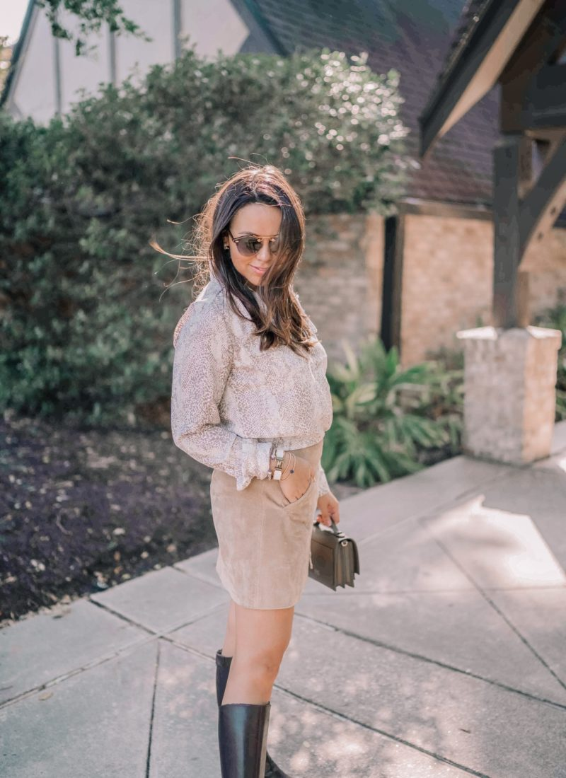 3 Snakeskin Print Trend Outfit Ideas