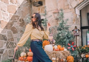 How to style wide-leg denim trousers for a petite frame | Adored by Alex