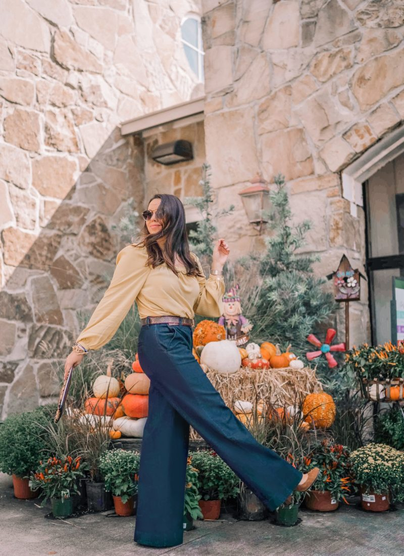 How to Style Wide Leg Denim Trousers