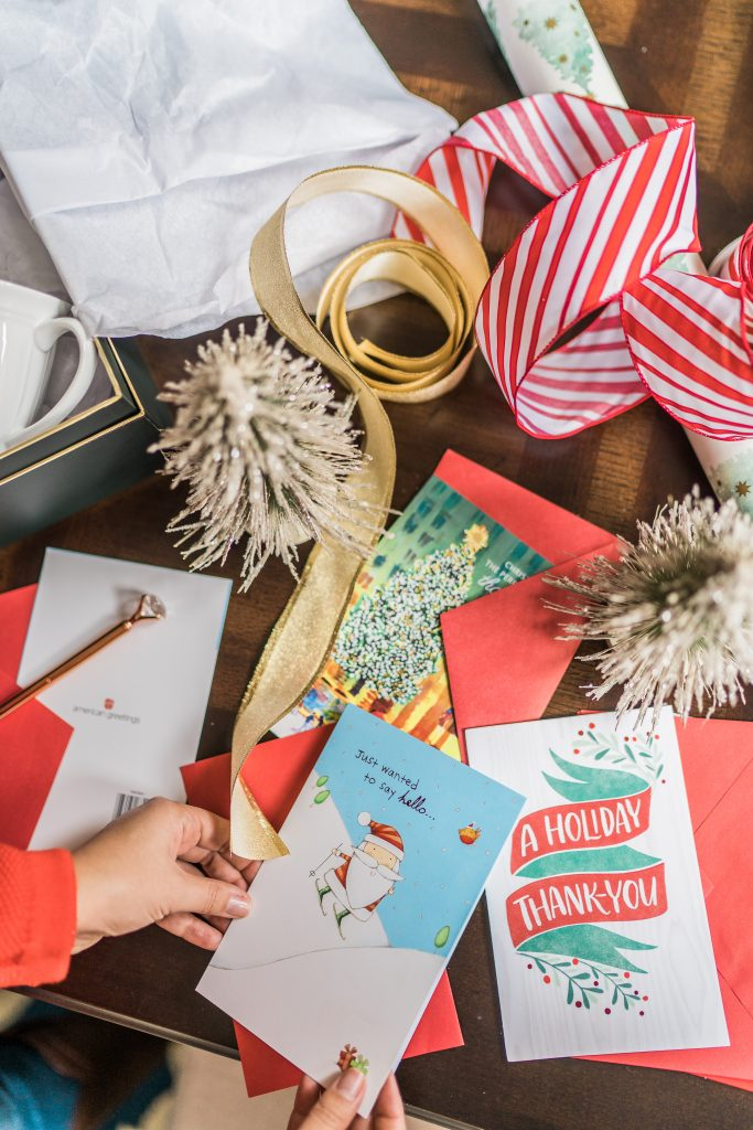 Houston-based lifestyle blogger Adored by Alex shares how to spread holiday cheer to your neighbors in 3 easy steps with American Greetings.