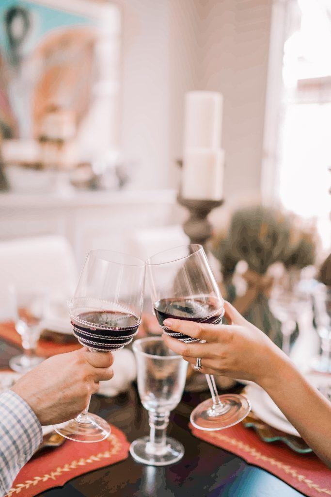 Juliska Berry & Thread wine glasses | Adored by Alex