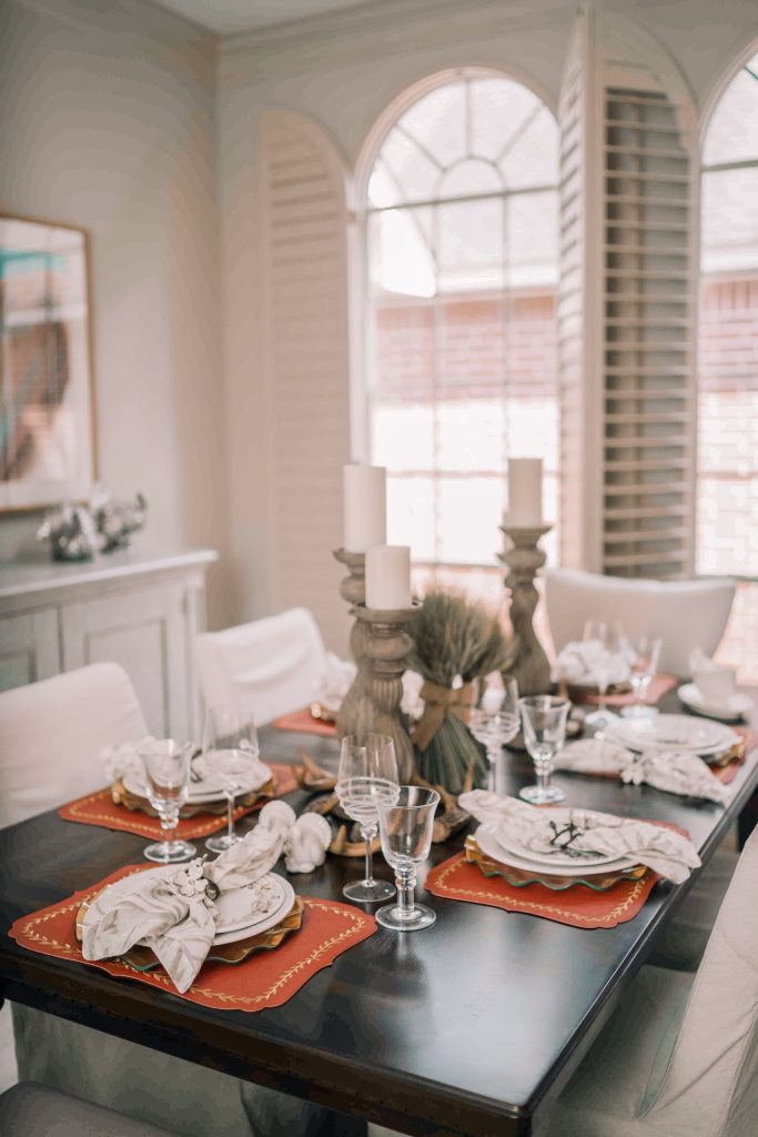 Elegant Thanksgiving day Tablescape | Adored by Alex