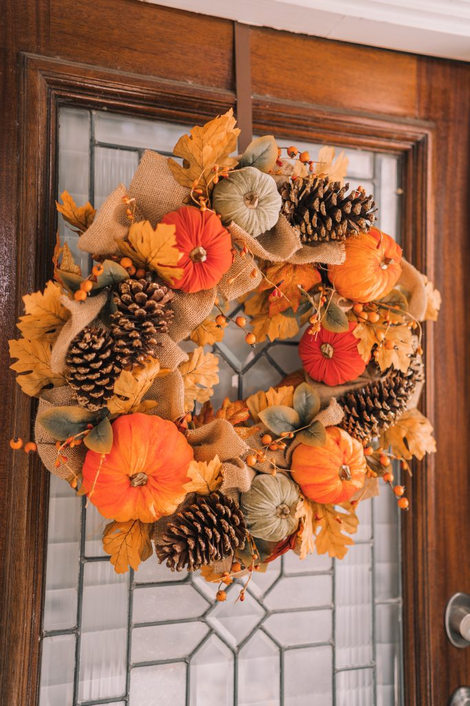 HomeGoods fall and autumn wreath for front door