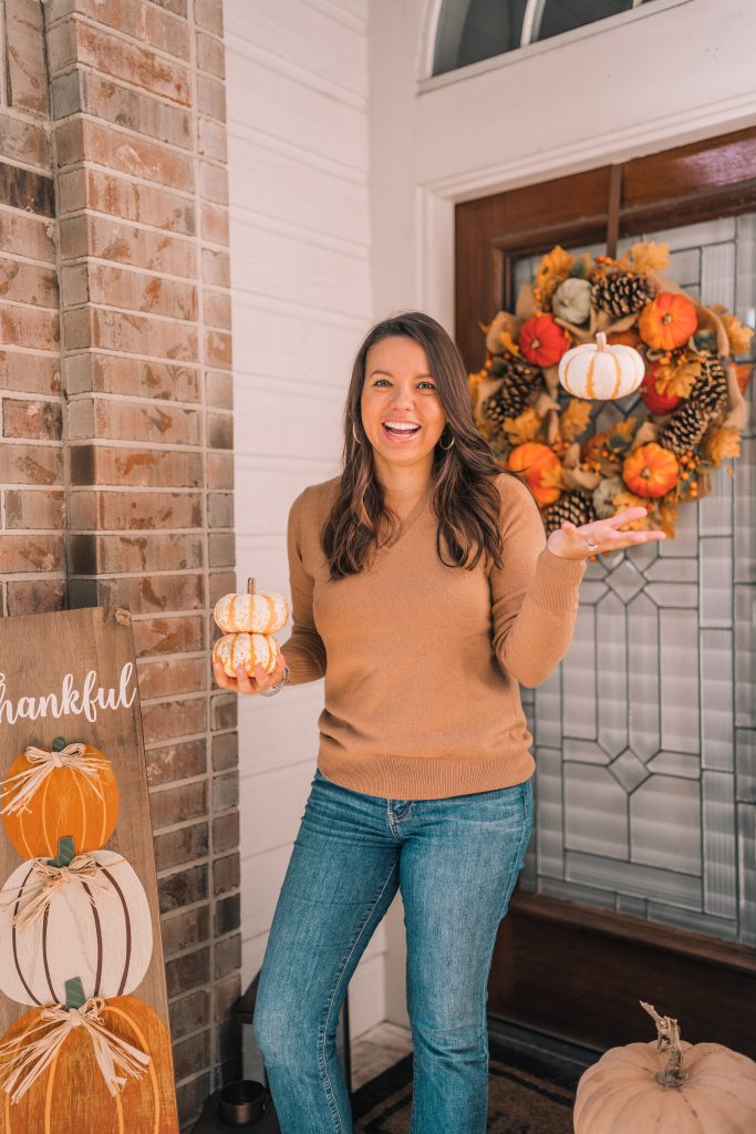 Autumn porch decor inspiration and styling ideas