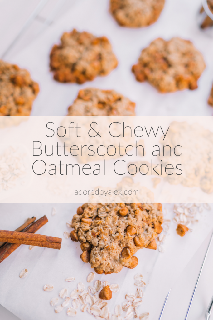 Butterscotch and Oatmeal Scotchies cookies | Adored by Alex