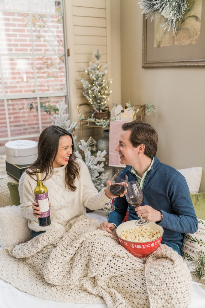 4 stay at home winter date night ideas with AVA Grace Vineyards | Adored by Alex