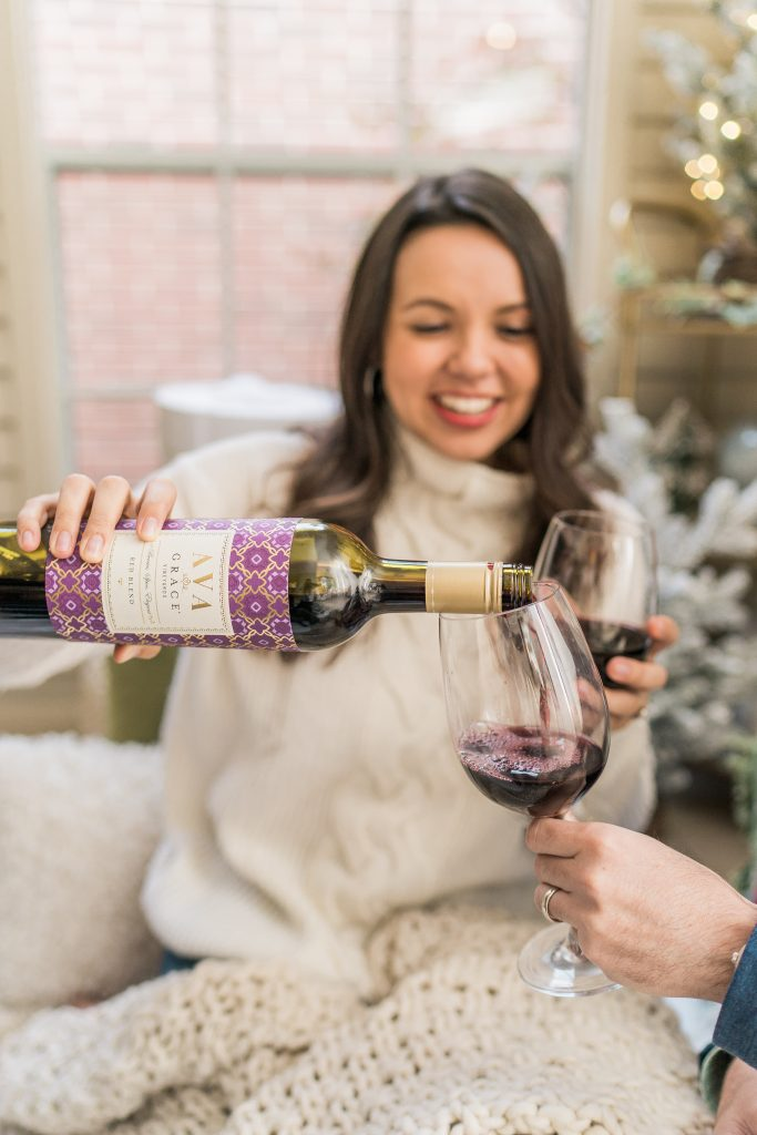 AVA Grace Vineyards California Red Blend wine for the holidays