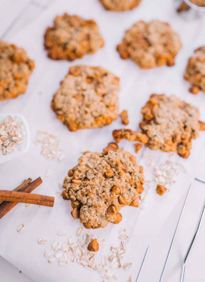 Soft & Chewy Butterscotch and Oatmeal Cookies