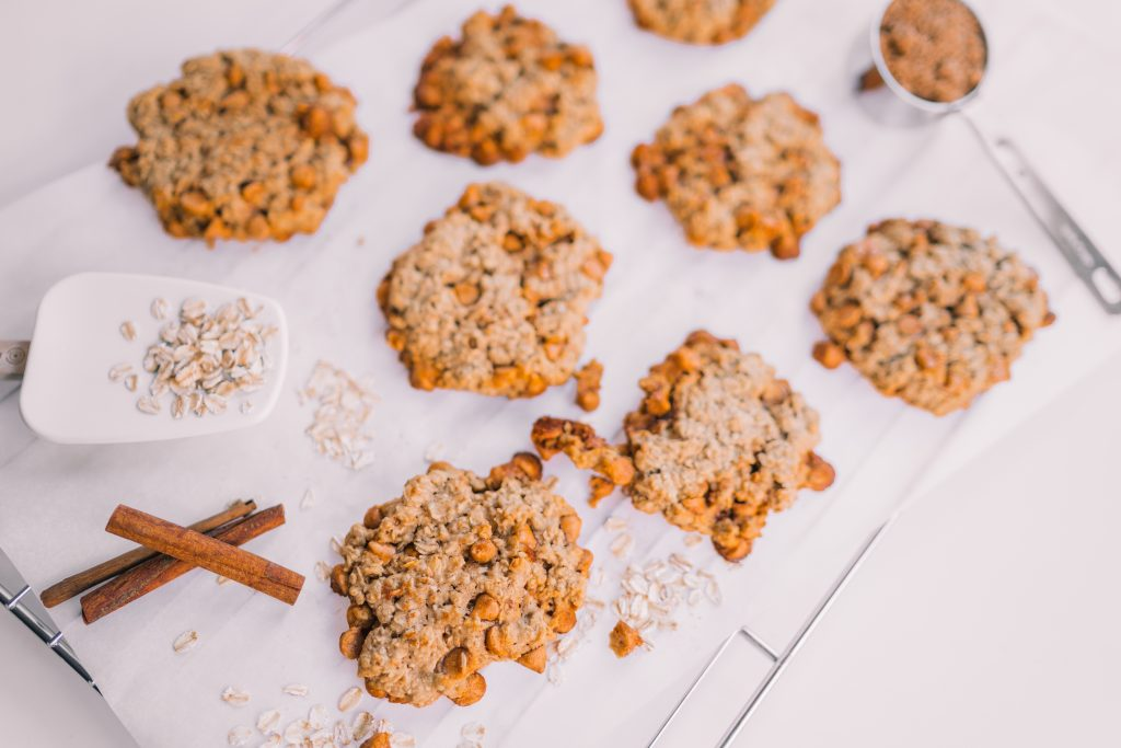 Butterscotch and Oatmeal Scotchies cookies