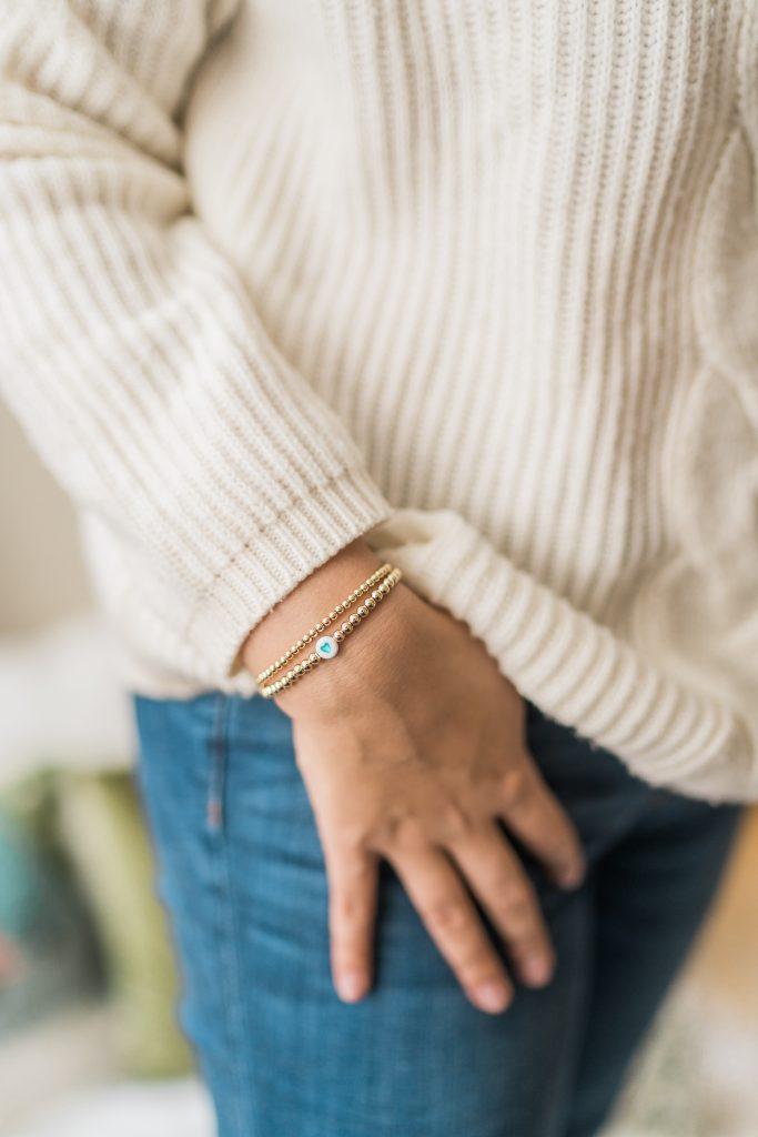 Le Mel gold filled stretch bracelets