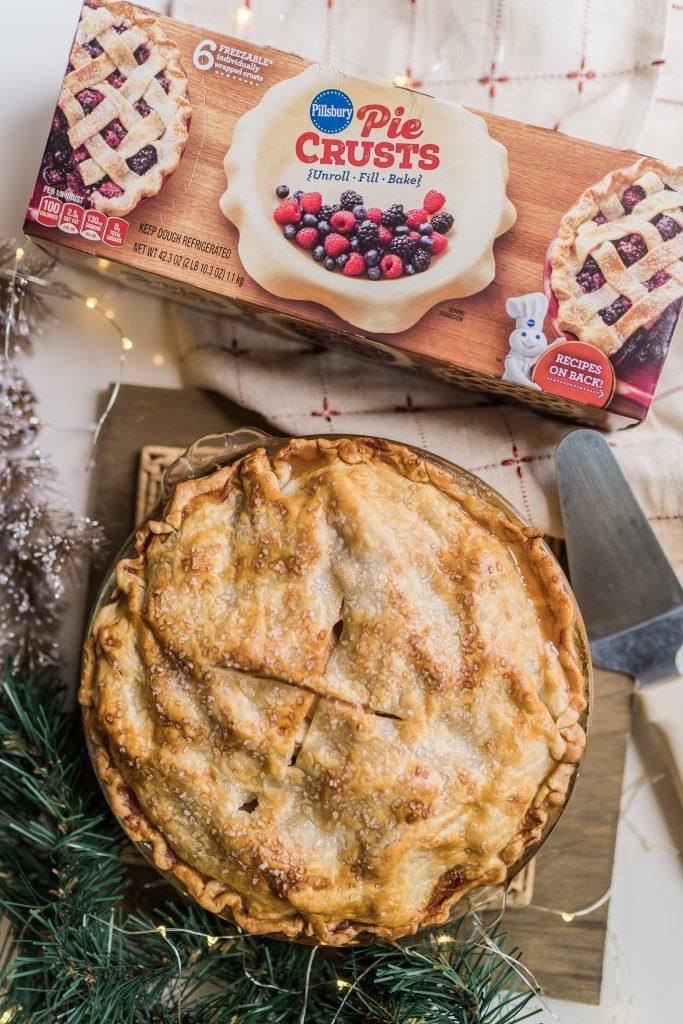 homemade apple pie using Pillsbury pie crust