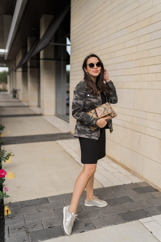 How to pair sneakers with a dress | Adored by Alex
