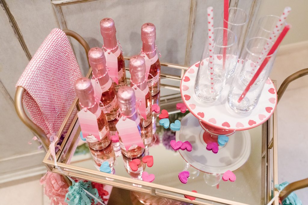 Valentine's Day bar cart and champagne bar | Adored by Alex
