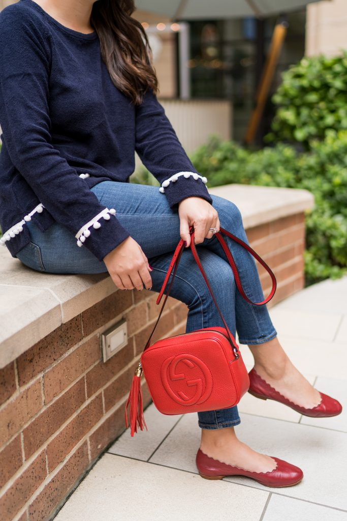 Guccidisco bag in red leather + Chloe Lauren red flats