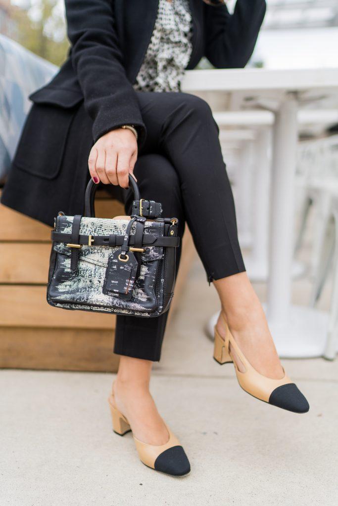 Chanel slingback pumps outfit idea