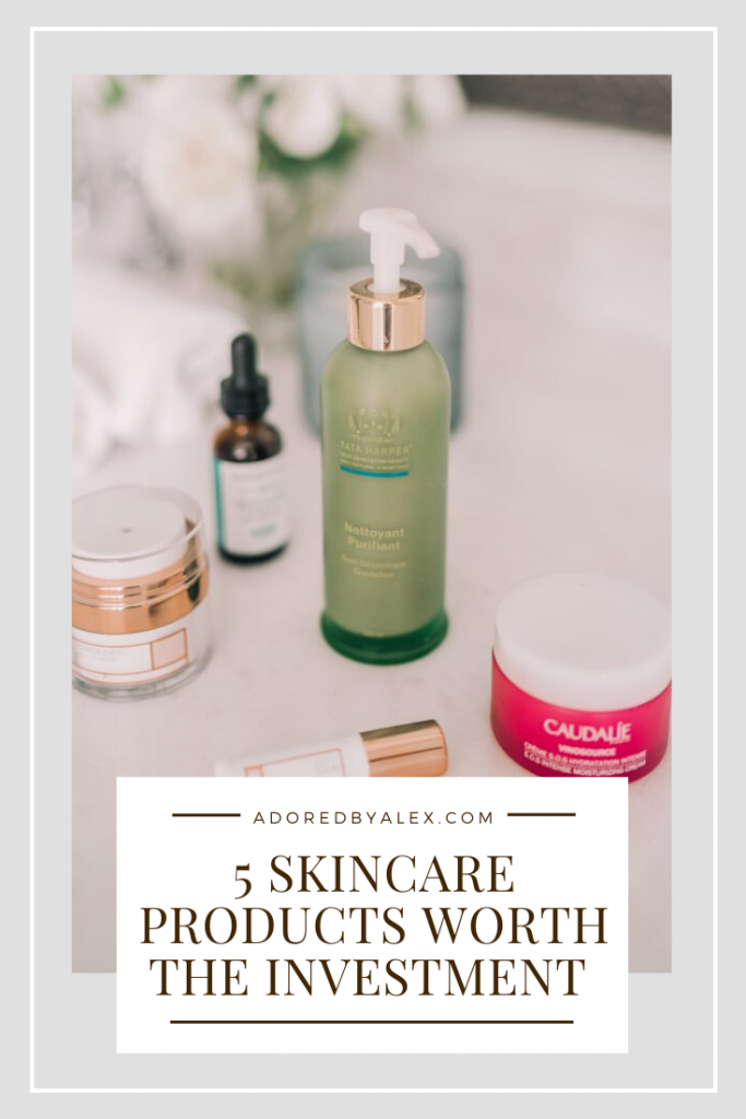 Products she purchases and uses regularly, Houston-based style blogger Adored by Alex shares 5 skincare products worth the investment.