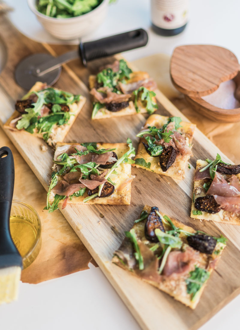 Easy to Make Dinner: Prosciutto, Fig & Arugula Flatbread
