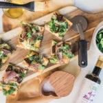 Easy dinner recipe idea flatbread pizza | Adored by Alex