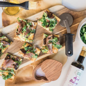 Easy dinner recipe idea flatbread pizza | Adored by Alex