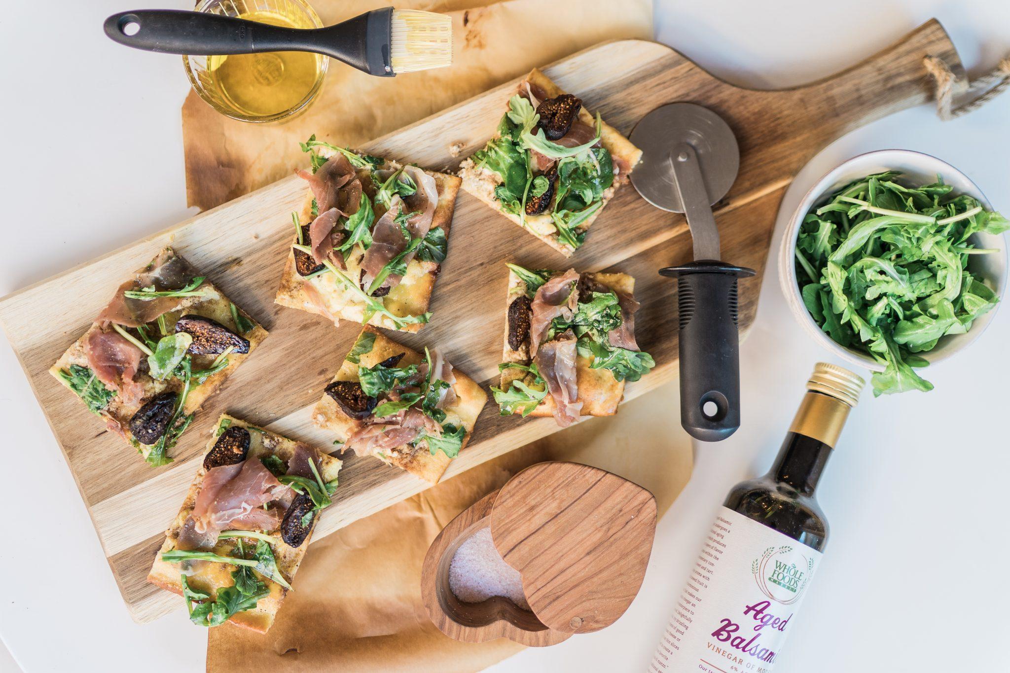 Easy dinner recipe idea flatbread pizza   Adored by Alex