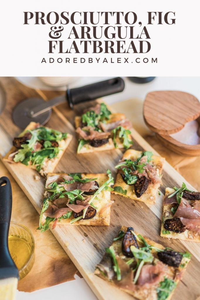 Prosciutto, Fig and Arugula Flatbread Pizza recipe