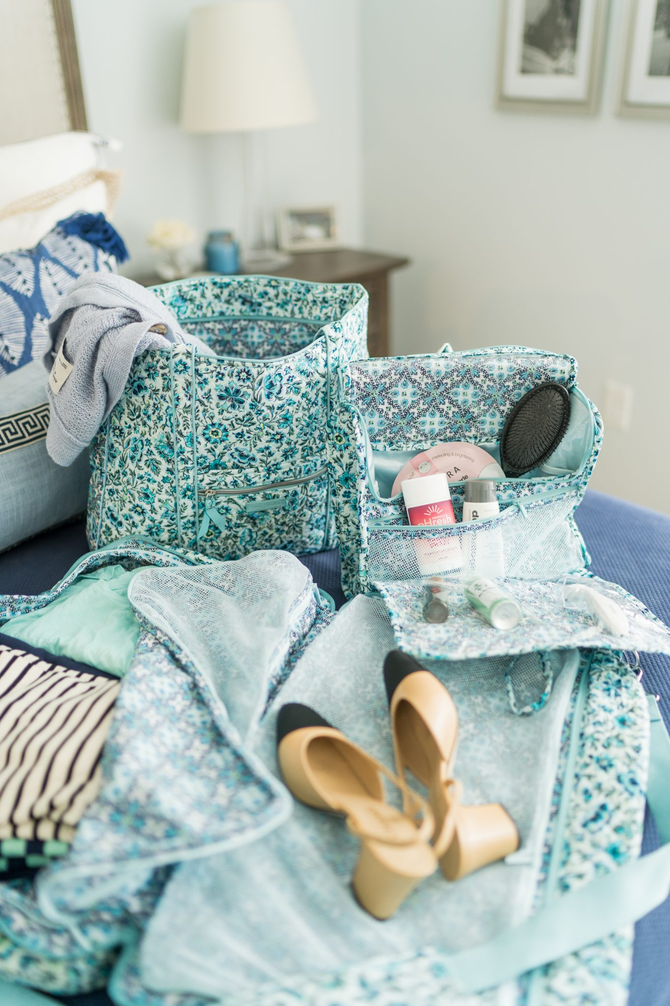 Packing tips for weekend getaways using Vera Bradley luggage