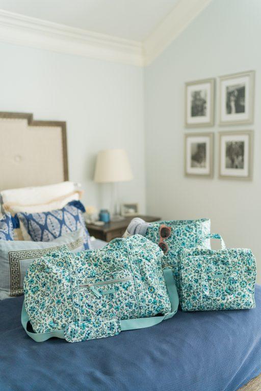 Vera Bradley travel bags, Cloud Vine pattern