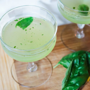 Basil Lemon martini cocktail recipe