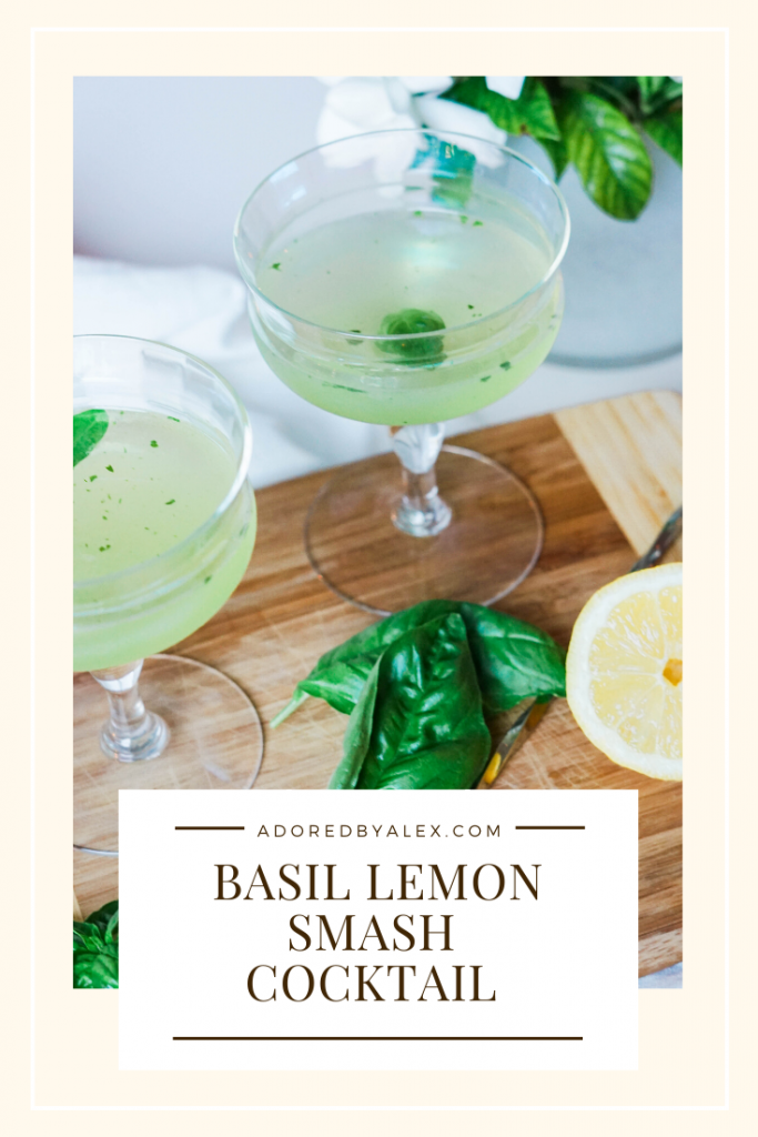 A refreshing cocktail for your next happy hour, try a Basil Lemon Smash cocktail