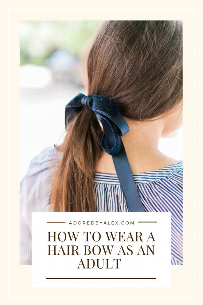 How to wear hair bows as an adult, tips and tricks