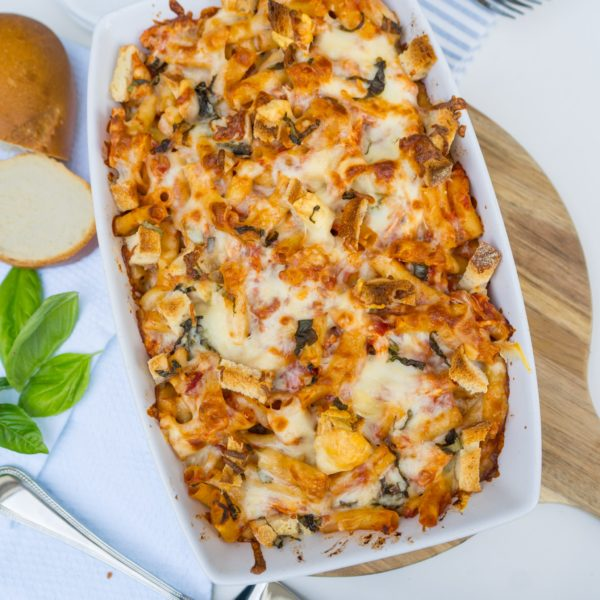 Chicken Parmesan Baked Ziti recipe